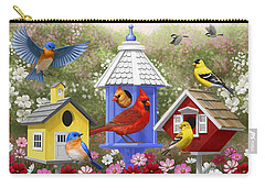 Bird Painting - Primary Colors Carry-all Pouch by Crista Forest