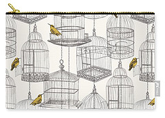 Birdcages Carry-all Pouch by Stephanie Davies