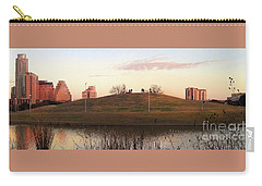 Birds And Fun At Butler Park Austin - Silhouettes 1 Panorama Carry-all Pouch by Felipe Adan Lerma