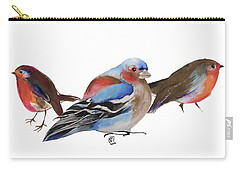 Birds Of A Feather Carry-all Pouch by Nancy Moniz