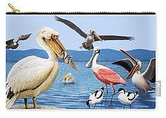 Birds With Strange Beaks Carry-all Pouch by R B Davis