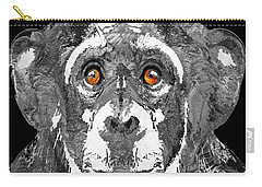 Black And White Art - Monkey Business 2 - By Sharon Cummings Carry-all Pouch by Sharon Cummings