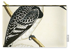 Black And White Kingfisher Carry-all Pouch by English School