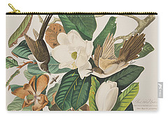 Black Billed Cuckoo Carry-all Pouch by John James Audubon