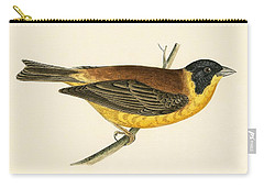Black Headed Bunting Carry-all Pouch by English School