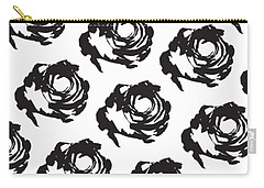 Black Rose Pattern Carry-all Pouch by Cortney Herron
