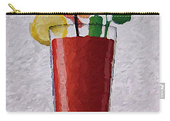 Bloody Mary Emoji Carry-all Pouch by  Judy Bernier
