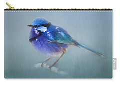Blue Fairy Wren Carry-all Pouch by Michelle Wrighton