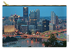 Blue Hour In Pittsburgh Carry-all Pouch by Frozen in Time Fine Art Photography