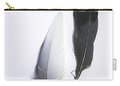 Blue Jay Feathers Carry-all Pouch by Cindi Ressler