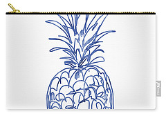 Blue Pineapple- Art By Linda Woods Carry-all Pouch by Linda Woods