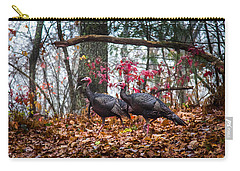 Blue Ridge Turkey Trot Carry-all Pouch by Karen Wiles