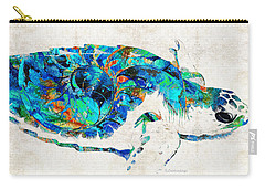Blue Sea Turtle By Sharon Cummings  Carry-all Pouch by Sharon Cummings
