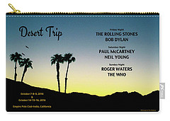 Blue Sky Sunset From A Desert Trip Carry-all Pouch by Desiderata Gallery