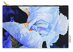 Blue Summer Iris Carry-all Pouch by Hanne Lore Koehler