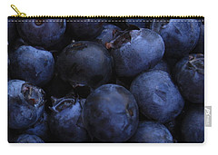 Blueberries Close-up - Vertical Carry-all Pouch by Carol Groenen