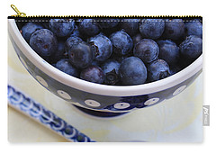 Blueberries With Spoon Carry-all Pouch by Carol Groenen