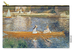 Boating On The Seine Carry-all Pouch by Pierre Auguste Renoir