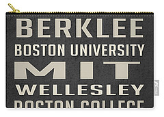 Boston Colleges Poster Carry-all Pouch by Edward Fielding