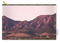Boulder Colorado Flatirons 1st Light Panorama Carry-all Pouch by James BO  Insogna