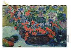 Bouquet Of Flowers Carry-all Pouch by Paul Gauguin