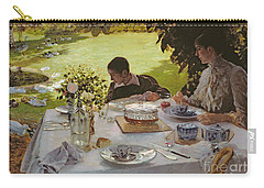 Breakfast In The Garden, 1883 Carry-all Pouch by Giuseppe Nittis