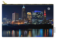 Bright Lights City Nights Carry-all Pouch by Frozen in Time Fine Art Photography