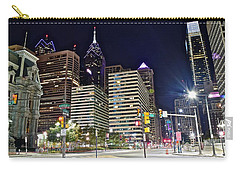 Bright Lights In Philly Carry-all Pouch by Frozen in Time Fine Art Photography