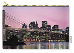 Brooklyn Bridge Across The East River Carry-all Pouch by Panoramic Images