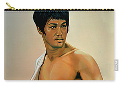 Bruce Lee Painting Carry-all Pouch by Paul Meijering