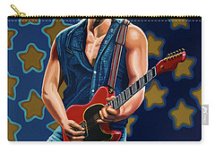 Bruce Springsteen The Boss Painting Carry-all Pouch by Paul Meijering