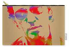 Bruce Springsteen Watercolor Portrait On Worn Distressed Canvas Carry-all Pouch by Design Turnpike