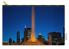 Buckingham Fountain Nightlight Chicago Carry-all Pouch by Steve Gadomski