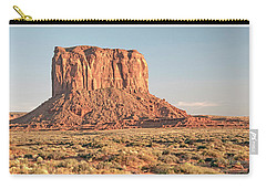 Carry-all Pouch featuring the photograph Butte, Monument Valley, Utah by A Gurmankin