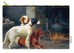 By The Fire Carry-all Pouch by Alfred Duke