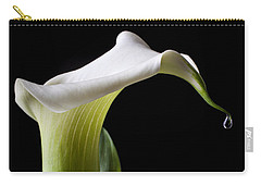Calla Lily With Drip Carry-all Pouch by Garry Gay