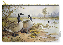 Canada Geese Carry-all Pouch by Carl Donner