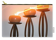 Candles In The Wind Carry-all Pouch by Kristin Elmquist