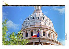 Capitol Of Texas - State Building - Austin Texas Carry-all Pouch by Gregory Ballos