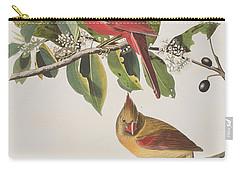 Cardinal Grosbeak Carry-all Pouch by John James Audubon