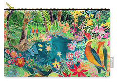 Caribbean Jungle Carry-all Pouch by Hilary Simon