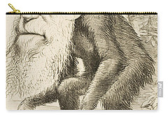 Caricature Of Charles Darwin Carry-all Pouch by English School