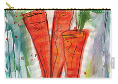 Carrots Carry-all Pouch by Linda Woods