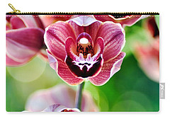 Cascading Miniature Orchids Carry-all Pouch by Kaye Menner