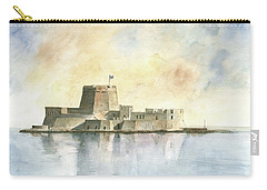 Castle Of Bourtzi In Nafplio Carry-all Pouch by Juan Bosco