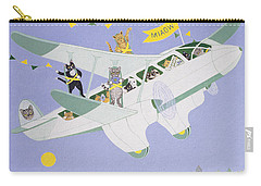 Cat Air Show Carry-all Pouch by Pat Scott