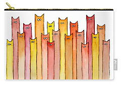 Cats Autumn Colors Carry-all Pouch by Olga Shvartsur