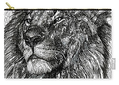 Cecil The Lion Carry-all Pouch by Michael  Volpicelli