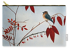 Cedar Waxwing Carry-all Pouch by Laura Tasheiko
