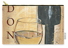 Chardonnay Wine And Grapes Carry-all Pouch by Debbie DeWitt